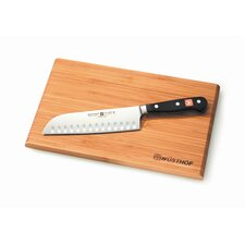 "Classic 7"" Santoku Hollow Edge with Board"