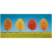 "4"" Autumn Trees (Set of 4)"