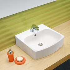 <strong>Bissonnet</strong> Universal Club Porcelain Bathroom Sink with Overflow