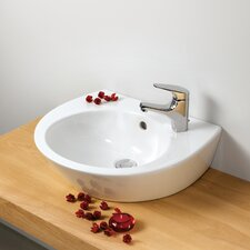 Universal Pop 50 Porcelain Bathroom Sink with Overflow