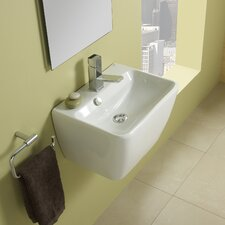 Emma 45 Porcelain Vessel Bathroom Sink with Overflow