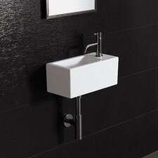 <strong>Bissonnet</strong> Area Boutique Ice 20 Porcelain Bathroom Sink with Overflow