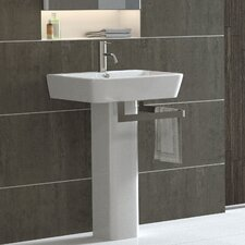 <strong>Bissonnet</strong> Emma Full Pedestal Overflow Bathroom Sink