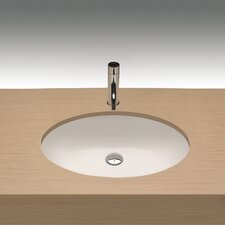 Universal Egeo Porcelain Undermount Bathroom Sink with Overflow