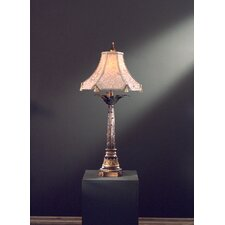 """37.25"""" H Table Lamp with Bell Shade"""