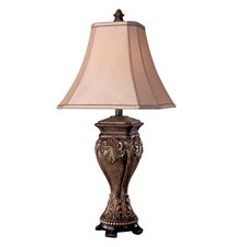 """Casual 30.5"""" H Table Lamp with Square Shade"""