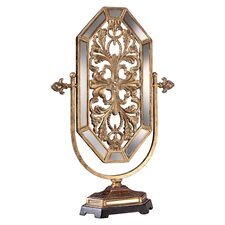 <strong>Minka Ambience</strong> Jessica McClintock Romance Accent Mirror in Tuscan Gold with Mirror Accents