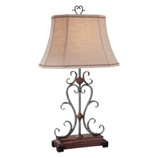 """Traditional 32.5"""" H Table Lamp with Bell Shade"""