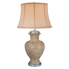 """Textured 30.5"""" H Table Lamp with Bell Shade"""