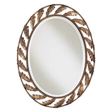 Oval Iron Leaf Mirror