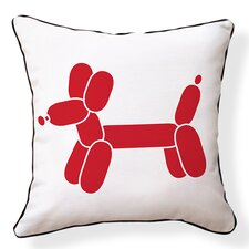 Doxie Red Balloon Throw Pillow