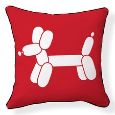 Doxie Red Balloon Pillow