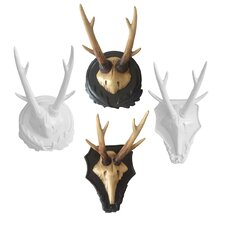 Forest Antlers Wall Plaque (Set of 4)