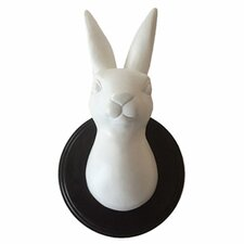 Wild Rabbit Head Trophy Wall Décor