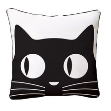 Big Eyes Cat Reversible Throw Pillow