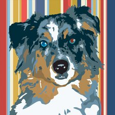 Pooch Décor Australian Shepherd Portrait Graphic Art on Canvas