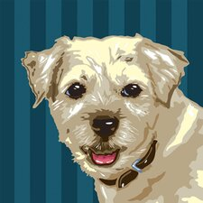 Pooch Décor Border Terrier Portrait Graphic Art on Canvas