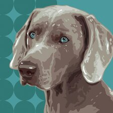Pooch Décor Weimaraner Portrait Graphic Art on Canvas