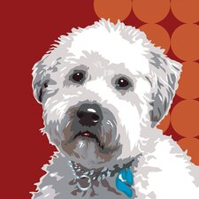 Pooch Décor Wheaten Terrier Portrait Graphic Art on Canvas