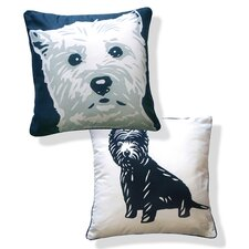 <strong>Naked Decor</strong> Doggie Style Reversible West Highland Terrier Pillow