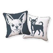 <strong>Naked Decor</strong> Chi Hua Hua Double Sided Cotton Pillow