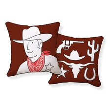 Cowboy Double Sided Cotton Pillow