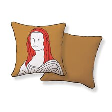<strong>Naked Decor</strong> Monalisa Double Sided Cotton Pillow
