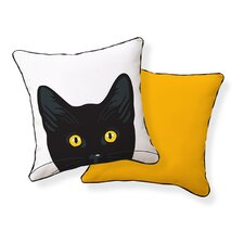 Yellow Eyes Cat Pillow