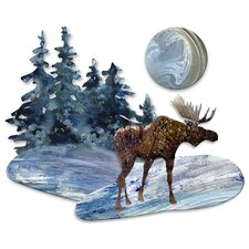 <strong>All My Walls</strong> Moonlit Moose Wall Décor