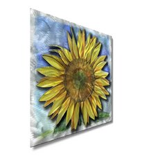"<strong>All My Walls</strong> Big Sunflower Contemporary Wall Art - 23"" x 23"""