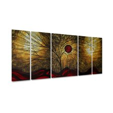 "<strong>All My Walls</strong> Red Waves by Megan Duncanson, Abstract Wall Art - 23.5"" x 52"""