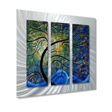 "<strong>All My Walls</strong> Indigo Evolution by Megan Duncanson, Abstract Wall Art - 29"" x 31.5"""