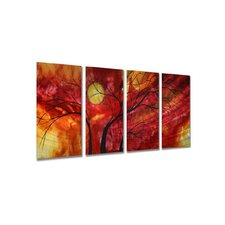 "Burning Crimson by Megan Duncanson, Abstract Wall Art - 23.5"" x 48"""
