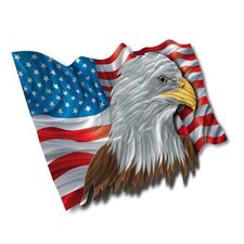 "The Patriotic Eagle Contemporary Wall Art - 22"" x 37.5"""