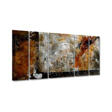 "Bronze Brushed by Ruth Palmer, Abstract Wall Art - 23.5"" x 52"""