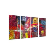 "<strong>All My Walls</strong> Color Blocks by Ruth Palmer, Abstract Wall Art - 23.5"" x 48"""