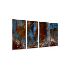 "Urban Feel by Ruth Palmer, Abstract Wall Art - 23.5"" x 48"""