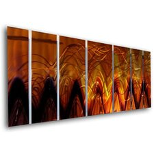 "<strong>All My Walls</strong> Abstract by Ash Carl Metal Wall Art in Fire - 23.5"" x 60"""