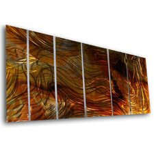 "<strong>All My Walls</strong> Abstract by Ash Carl Metal Wall Art in Multi - 23.5"" x 60"""