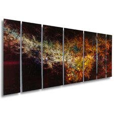 "Abstract by Ash Carl Holographic Metal Wall Art in Black - 23.5"" x 60"""