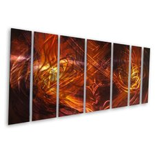 "<strong>All My Walls</strong> Abstract by Ash Carl Metal Wall Art in Red Multi - 23.5"" x 60"""