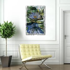 "Water Lilies Contemporary Wall Art - 32.5"" x 21.5"""