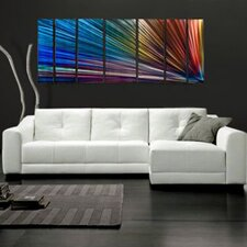 "<strong>All My Walls</strong> Abstract by Ash Carl Metal Wall Art in Rainbow - 23.5"" x 60"""