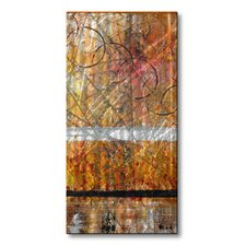 'Set Alight' by Ruth Palmer Original Painting on Metal Plaque