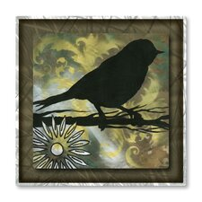 'Natures Whimsy VIII' by Megan Duncanso Original Painting on Metal Plaque