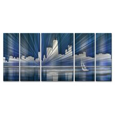 Chicago Skyline Metal Wall Sculpture