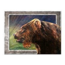 <strong>All My Walls</strong> Red Griz Metal Wall Decor