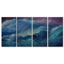 <strong>All My Walls</strong> Sea Wave 2 Metal Wall Art