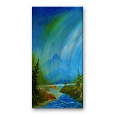<strong>All My Walls</strong> Mountain Stream Metal Wall Art