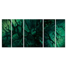 <strong>All My Walls</strong> Emerald Envy Metal Wall Art